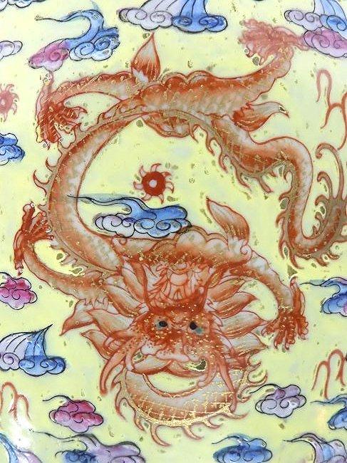 CHINESE FAMILLE JUANE DRAGON PALACE SIGNED VASES - 10