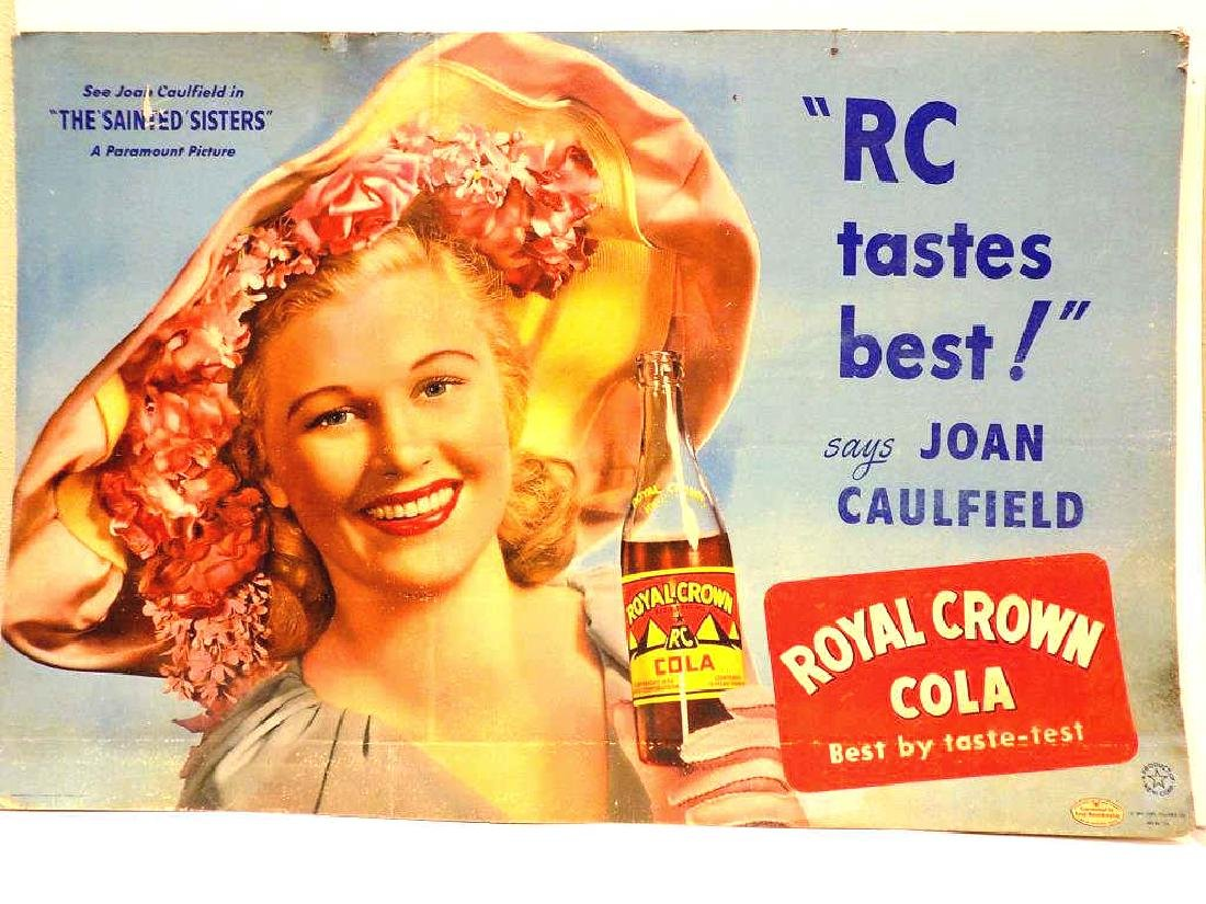 RC ROYAL CROWN COLA CAULFIELD ADVERTISING POSTER