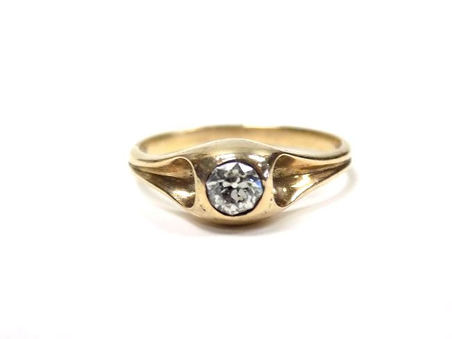 14K YELLOW GOLD & DIAMOND SOLITAIRE RING