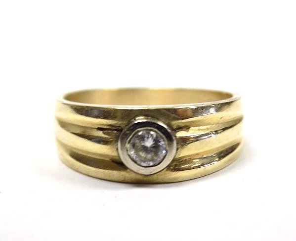 14K YELLOW GOLD & DIAMOND DRESS RING