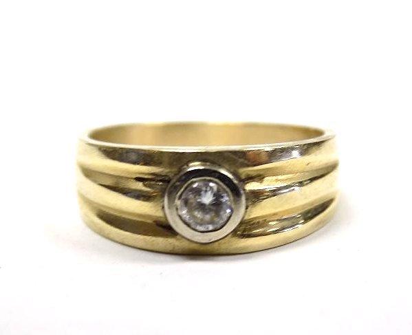 14K YELLOW GOLD & DIAMOND DRESS RING