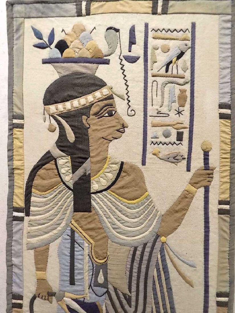 HUGE EGYPTIAN PHAROAHS WOVEN TAPESTRY - 3