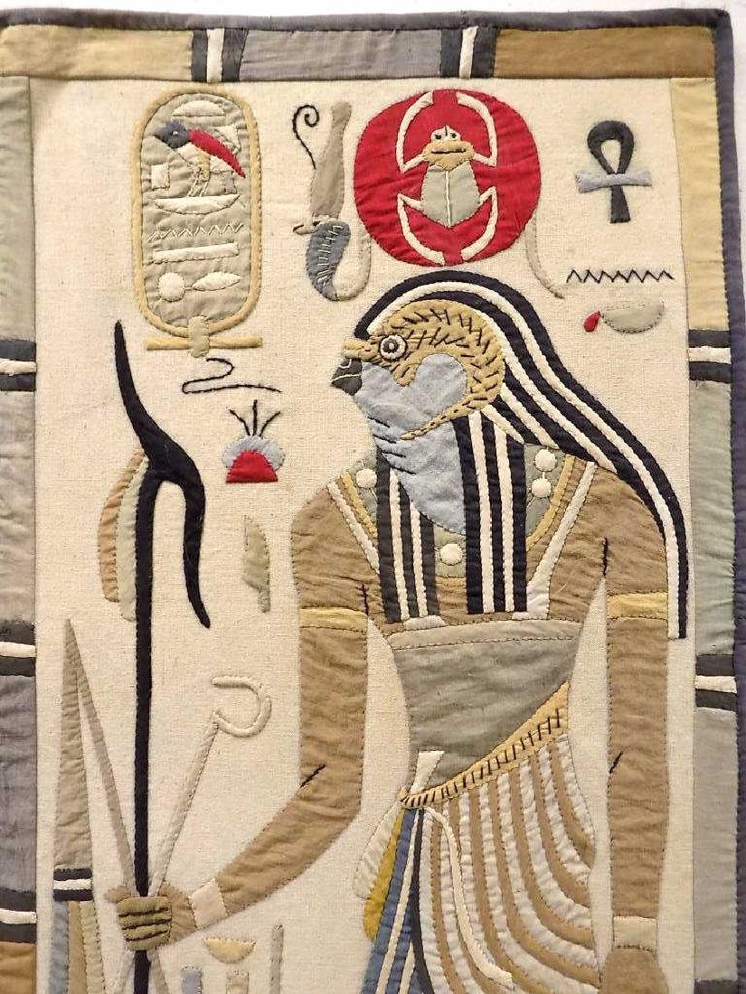 HUGE EGYPTIAN PHAROAHS WOVEN TAPESTRY - 4