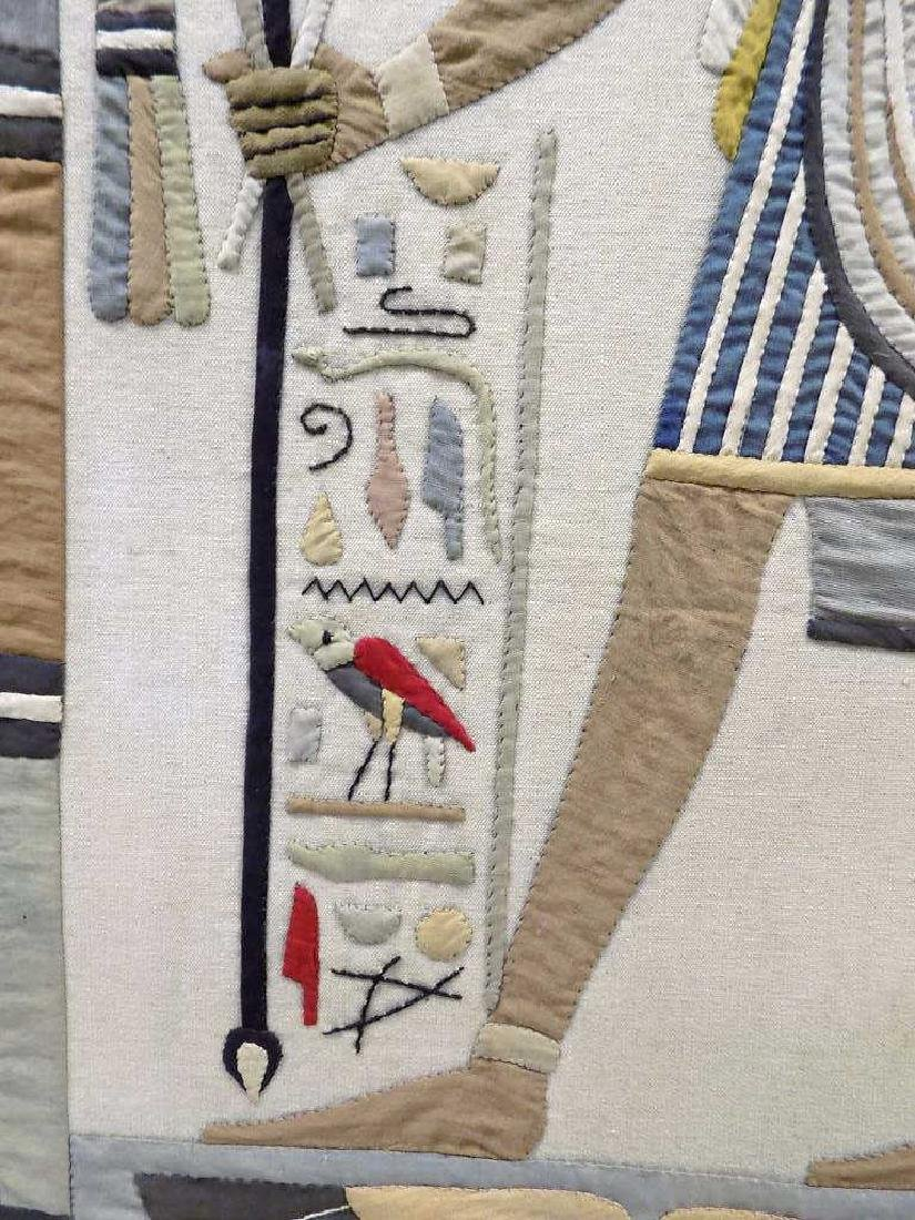 HUGE EGYPTIAN PHAROAHS WOVEN TAPESTRY - 5