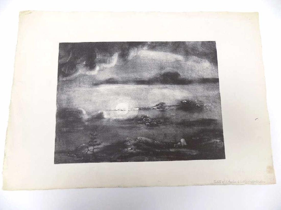 THEODORE WAHL - LIGHT AND SHADOW ESTATE LITHOGRAPH