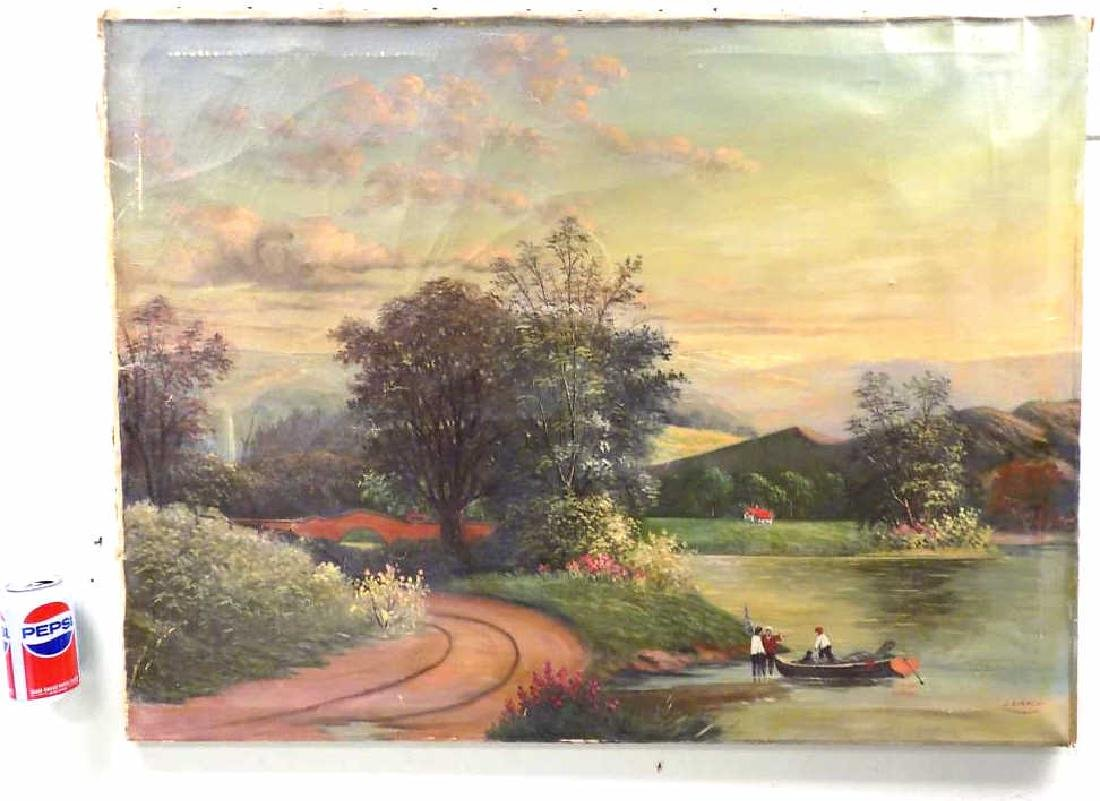 J. BIANCHI - COUNTRY LANDSCAPE PAINTING