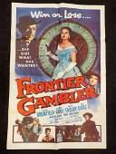 FRONTIER GAMBLER OLD WESTERN MOVIE POSTER