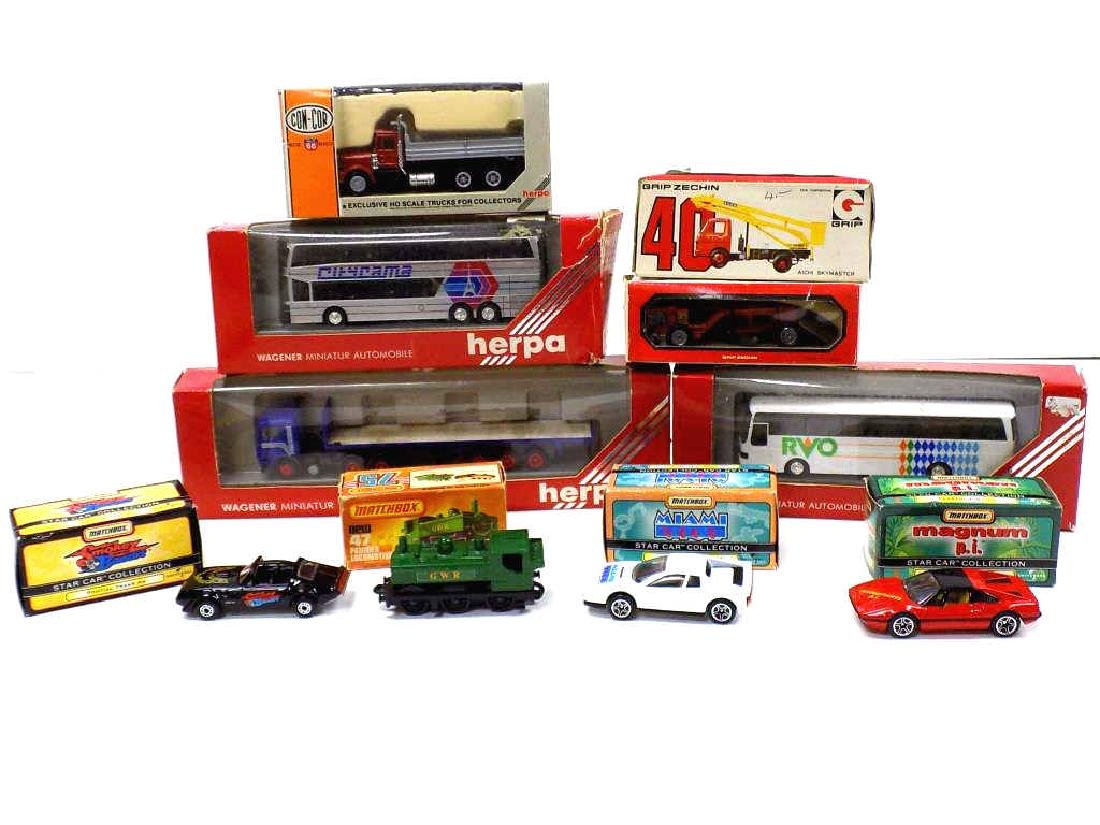 VINTAGE MATCHBOX / HERPA 10 CARS & TRUCKS
