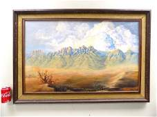 JR RICHARDSON  SOUTHWESTERN LANDSCAPE PAINTING