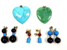 NATIVE AMERICAN INDIAN TURQUOISE CRYSTAL JEWELRY