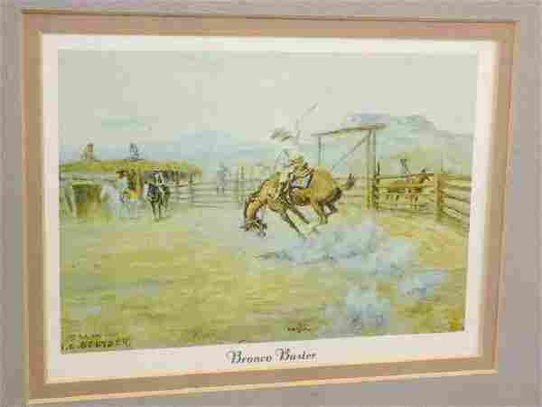SELTZER - BRONCO BUSTER LITHOGRAPH