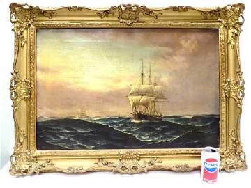 EDWARD HOYER - NAUTICAL SHIPS PAINTING