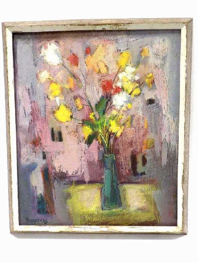 RUSSIAN SIGNED ABSTRACT BOUQUET PAINTING