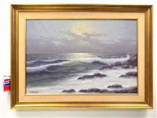 ARTIE MCKENZIE - OCEAN SUNSET PAINTING