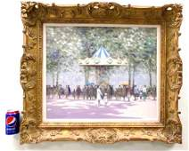 ANDRE GISSON - IMPRESSIONIST CAROUSEL PAINTING