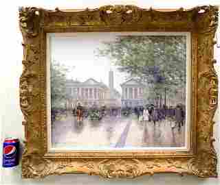 ANDRE GISSON IMPRESSIONIST PARIS STREETS PAINTING