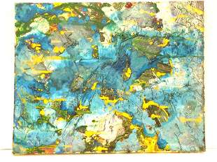 POLLOCK STYLE MODERNIST ABSTRACT PAINTING