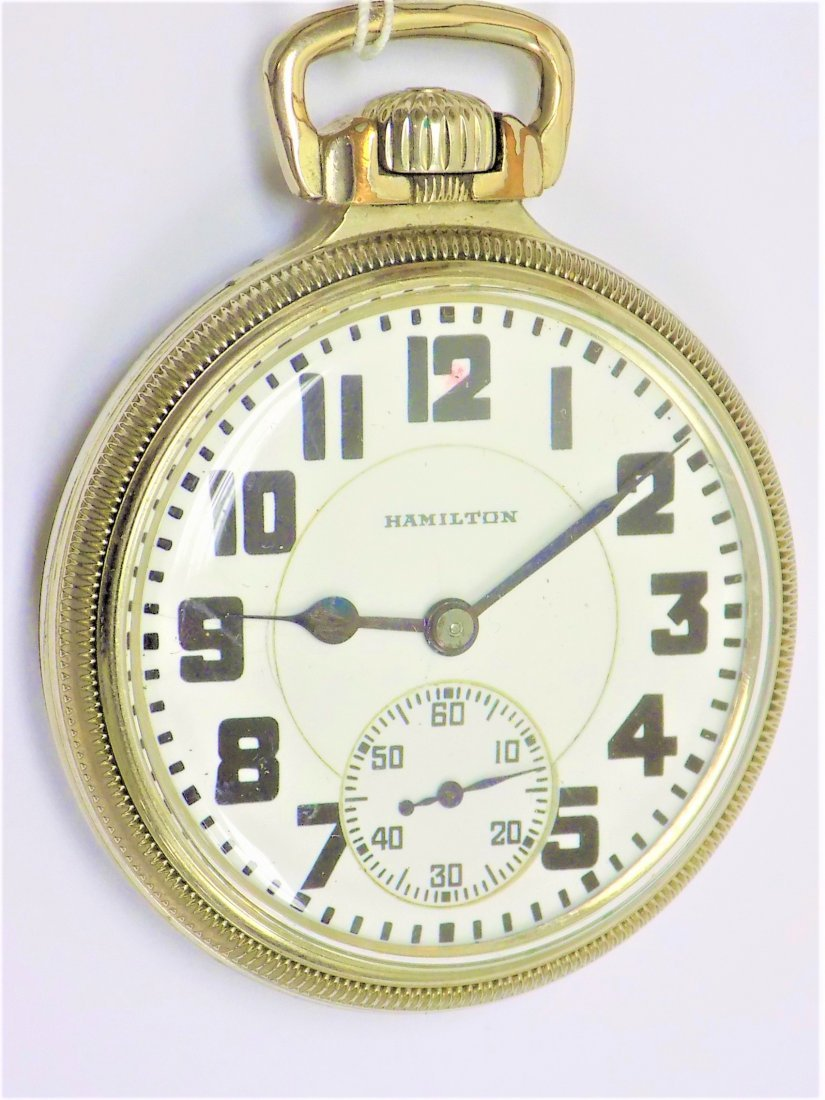 HAMILTON MODEL 992 DOUBLE ROLLER POCKET WATCH