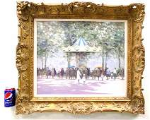 ANDRE GISSON - BIG IMPRESSIONIST CAROUSEL PAINTING