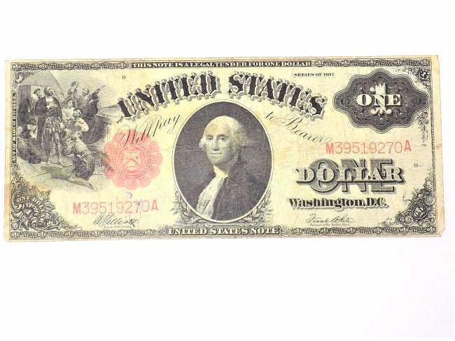 1917 $1 UNITED STATES ONE DOLLAR NOTE