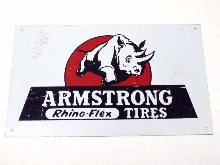 ARMSTRONG RHINO FLEX TIRES STORE ADVERTISING SIGN
