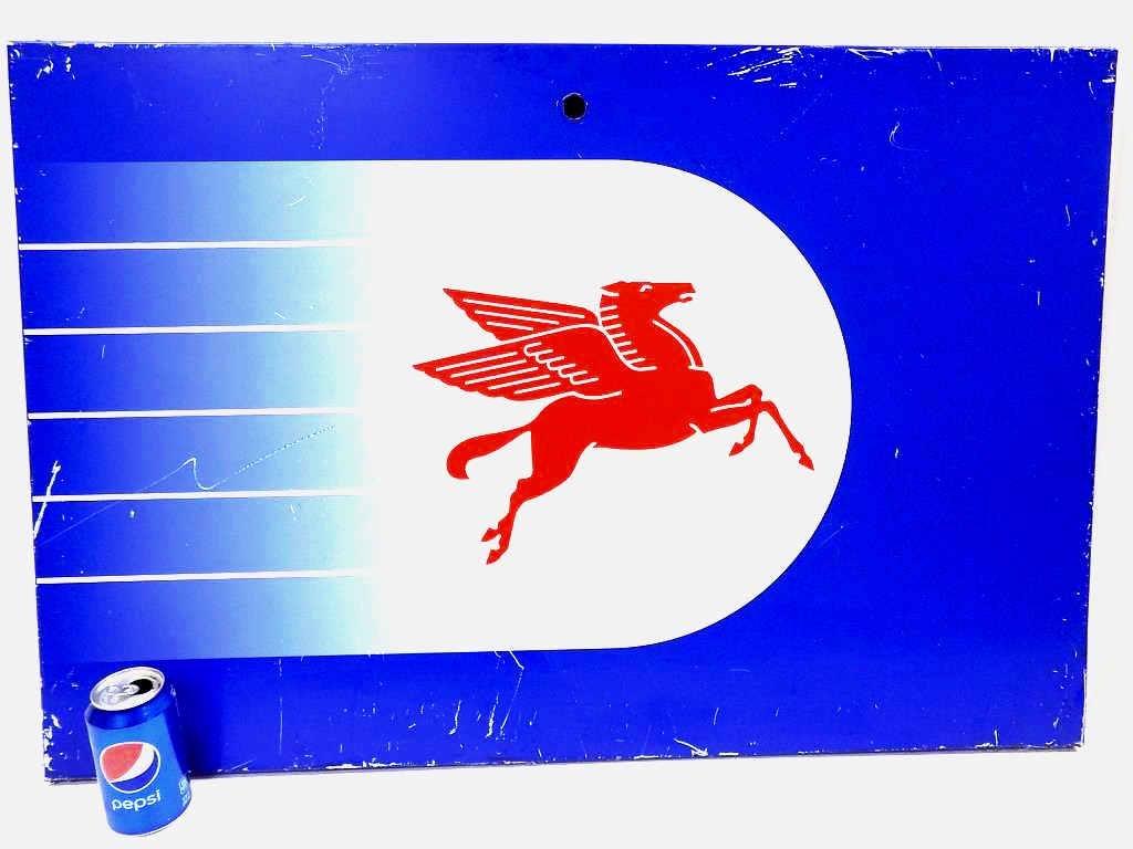 MOBIL PEGASUS STEEL GAS STATION ADVERTISING SIGN