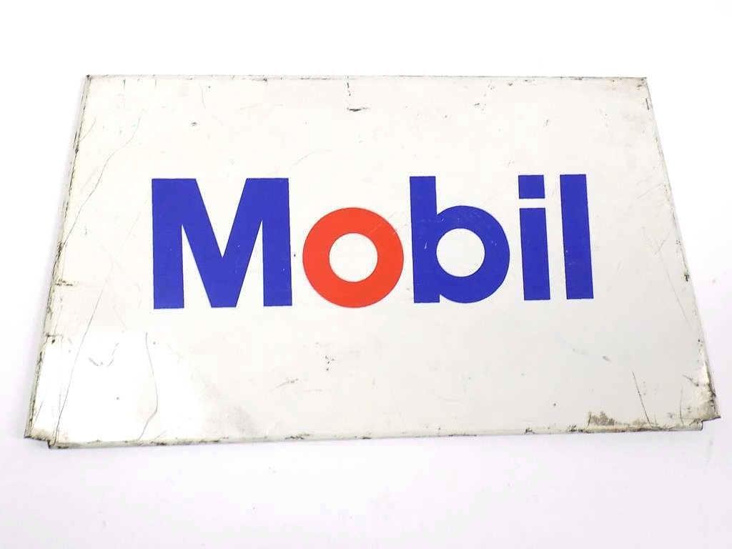 MOBIL GAS STATION METAL ADVERTISING SIGN