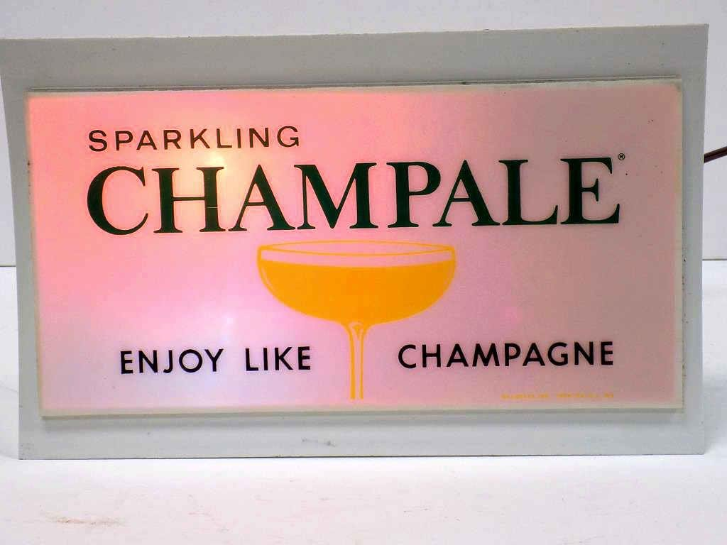 SPARKLING CHAMPALE STORE ADVERTISING SIGN LIGHT