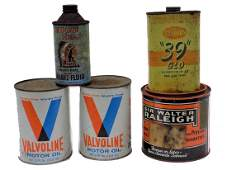 VINTAGE ADVERTISING CANS GROUP