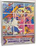 PETER MAX 1970-1971 ART MUSEUM EXHIBITION POSTER