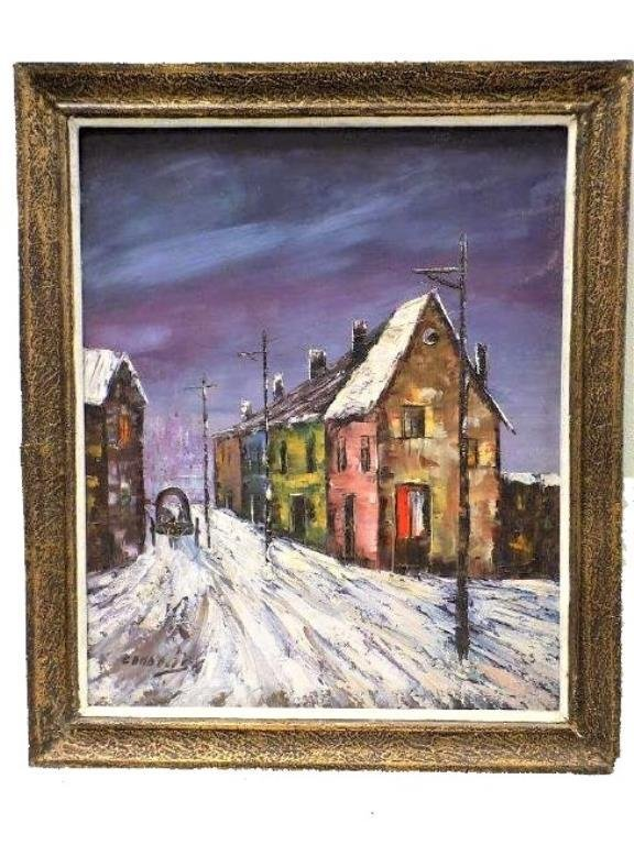 CANDELIS - WINTER STREETS PAINTING