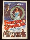 FRONTIER GAMBLER COWBOY WESTERN MOVIE POSTER