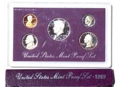 UNITED STATES PROOF SET 1989 SEALED COIN SET