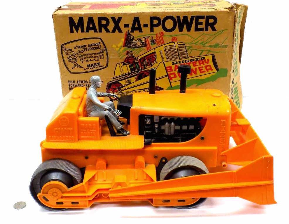 MARX A POWER GIANT TOY BULLDOZER W/ BOX