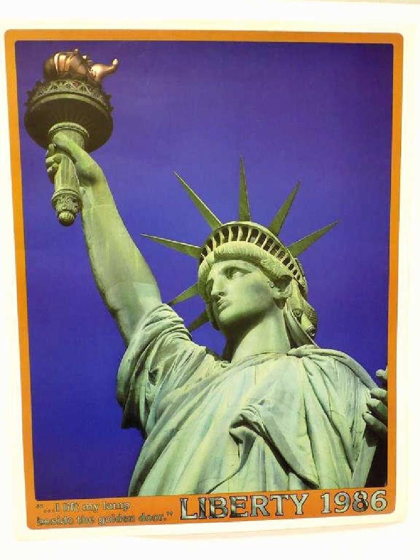 3 STATUE OF LIBERTY LITHOGRAPHS / POSTERS