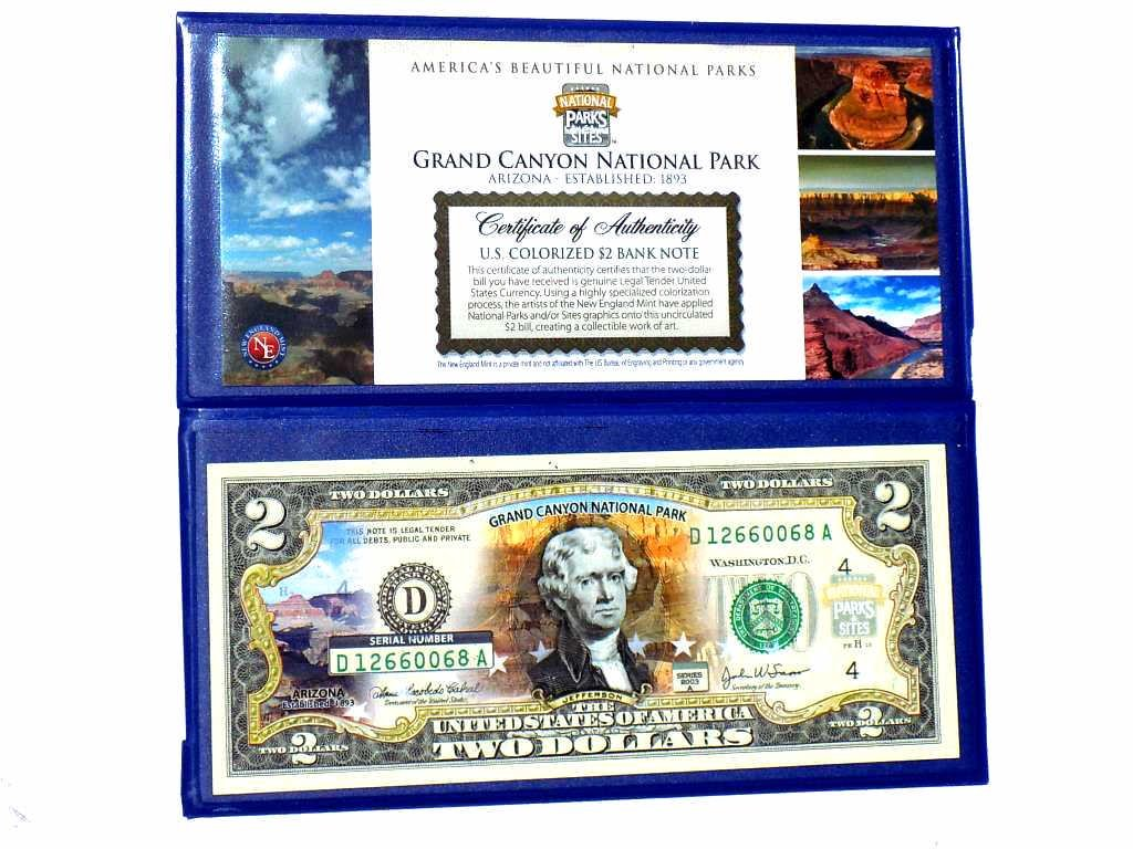 2003A GRAND CANYON COLOR $2 TWO DOLLAR BANK NOTE