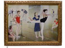 MARC KLIONSKY - LARGE BALLET STUDIO PAINTING
