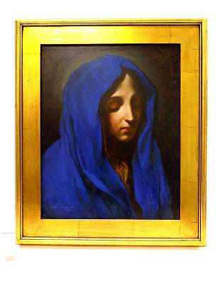 BLUE MADONNA AFTER CARLO DOLCI PAINTING