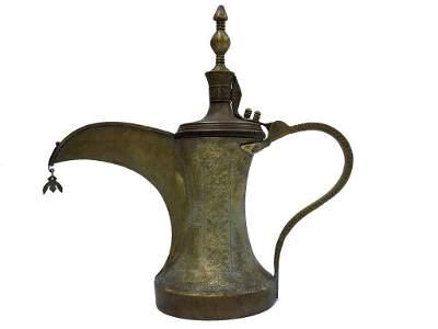 ISLAMIC MIDDLE EASTERN ARABIAN DALLAH BEDUIN COFFEE POT