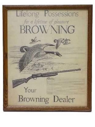 HUNOLD - ORIGINAL BROWNING ADVERTISEMENT DRAWING