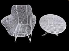 BERTOIA ? MIDCENTURY MODERN TABLE & CHAIR SET