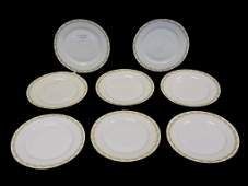 HAVILAND LIMOGES CHRISTMAS MULBERRY PLATE SET