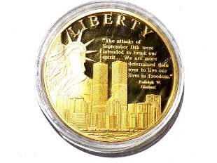AMERICAN SPIRIT REMEMBERING 9/11 LIBERTY GOLD COIN
