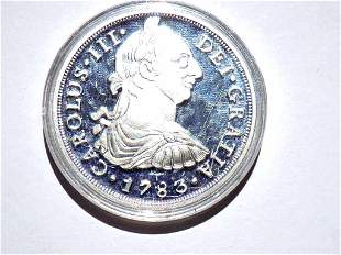 CAROLUS III DEI GRATIA 1783 PURE SILVER COIN