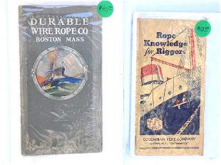 SHIP RELATED ROPE COMPANY ADVERTISING BOOKLETS