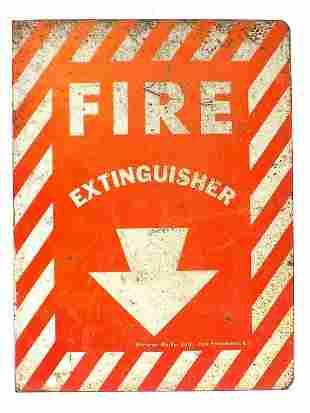 FIREMAN / FIRE EXTINGUISHER METAL FLANGE SIGN