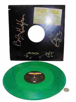OVER KILL SIGNED GREEN VINYL RECORD ALBUM