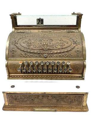NATIONAL BRASS STORE CASH REGISTER MODEL 333