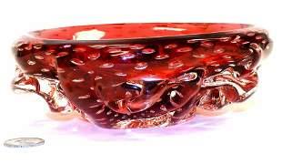 SEGUSO VETRI D'ARTE BUBBLE GLASS BOWL