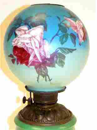 VICTORIAN GONE WITH THE WIND PARLOR LAMP